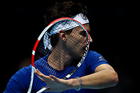 17th November 2019; 02 Arena. London, England; Nitto ATP Tennis Finals; Dominic Thiem (Austria) during his practice session before the mens singles final - Editorial Use