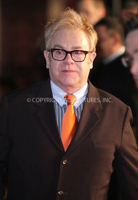 """Elton John at the premiere of """"Australia"""" in London - 10 December 2008 ..FAMOUS PICTURES AND FEATURES AGENCY 13 HARWOOD ROAD LONDON SW6 4QP UNITED KINGDOM tel +44 (0) 20 7731 9333 fax +44 (0) 20 7731 9330 e-mail info@famous.uk.com www.famous.uk.com .FAM24869"""