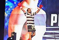 PIRACICABA,SP, 02.07.2016 - WGP31-SP - Os lutadores Renzo Martinez (BOL) (azul) vs Gustavo Piacentini (BRA) (vermelho) categoria 60Kg durante Wgp Kickboxing no Ginásio Municipal Waldemar Blatkauskas na cidade Piracicaba interior de São Paulo neste sábado (Foto: Mauricio Bento/Brazil Photo Press)
