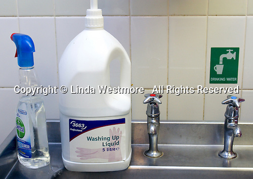 Cleaning solutions, Catering Department, Further Education College.