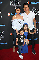 "05 August 2017 - Los Angeles, California - Courtney Laine Mazza, Mario Lopez, Dominic Lopez, Gia Francesca Lopez. ""The Lion King"" Sing-Along Screening. Photo Credit: F. Sadou/AdMedia"