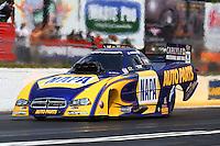 May 19, 2014; Commerce, GA, USA; NHRA funny car driver Ron Capps during the Southern Nationals at Atlanta Dragway. Mandatory Credit: Mark J. Rebilas-USA TODAY Sports