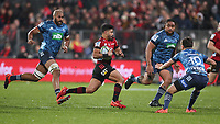 11th July 2020; Christchurch, New Zealand;  Richie Mo'unga. Crusaders versus Blues in the Super Rugby Aotearoa. Orangetheory Stadium, Christchurch,