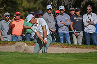 Thorbjorn Olesen (DEN) hits from the trap on 7 during round 1 of the World Golf Championships, Mexico, Club De Golf Chapultepec, Mexico City, Mexico. 2/21/2019.<br /> Picture: Golffile | Ken Murray<br /> <br /> <br /> All photo usage must carry mandatory copyright credit (© Golffile | Ken Murray)