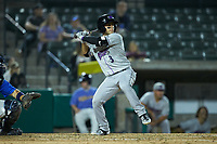 Nick Madrigal (3) of the Winston-Salem Dash at bat against the Myrtle Beach Pelicans at TicketReturn.com Field on May 16, 2019 in Myrtle Beach, South Carolina. The Dash defeated the Pelicans 6-0. (Brian Westerholt/Four Seam Images)