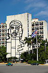 HAVANA - DECEMBER 29: Ministry of the Interior with the iron portrait of Che Guevara on the Plaza de la Revolución in Havana, Cuba.  2013 marks the 60th anniversary of the start of the Cuban Revolution.