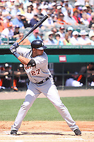 Detroit Tigers shortstop Jhonny Peralta (27) at bat against the Miami Marlins during a spring training game at the Roger Dean Complex in Jupiter, Florida on March 25, 2013. Detroit defeated Miami 6-3. (Stacy Jo Grant/Four Seam Images)........