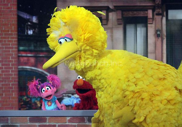 NEW YORK, NY - November 08 2018 Abby's Bubble Fun, Elmo, Big Bird at Today Show to talk about new season of Sesame Street in New York November 08, 2018 Credit:RW/MediaPunch