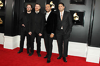 10 February 2019 - Los Angeles, California - Patrick Stump, Andy Hurley, Pete Wentz, Joe Trohman, Fall Out Boy. 61st Annual GRAMMY Awards held at Staples Center. Photo Credit: AdMedia