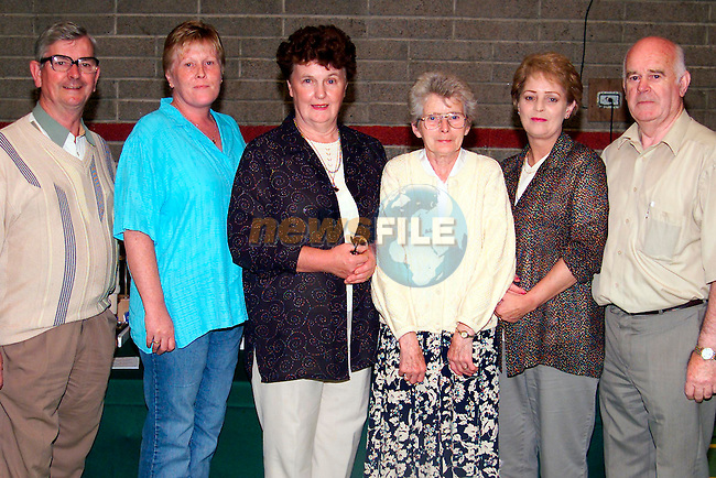 Peter Milne, Margaret Somjee, Josephine Moran, Kathleen Callan, Patricia Thornton and Paddy Brennan at the Bridge Night in Greenhills Gym..Picture: Paul Mohan/Newsfile