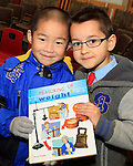 "Nathan Zhou and Szymom Josz from St.Patrick's NS at the ""Drogheda Counts"" workshop in the Library...Photo NEWSFILE/Jenny Matthews..(Photo credit should read Jenny Matthews/NEWSFILE)"