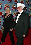 Larry Hagman with his wife ( DALLAS ).Attending CBS AT 75, a three hour entertainment extravaganza commemorating CBS's 75th Anniversary, which will be  broadcast live from the Hammerstein Ballroom at New York's Manhattan Center in New York City..November 2, 2003.