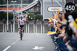 Warren Barguil (FRA) Team Sunweb out front during the Tour de France Saitama Critérium 2017 held around the streets os Saitama, Japan. 4th November 2017.<br /> Picture: ASO/Pauline Ballet | Cyclefile<br /> <br /> <br /> All photos usage must carry mandatory copyright credit (© Cyclefile | ASO/Pauline Ballet)