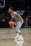 Mitchell Wilbekin (10) of the Wake Forest Demon Deacons during first half action against the Virginia Tech Hokies at the LJVM Coliseum on January 10, 2018 in Winston-Salem, North Carolina.  The Hokies defeated the Demon Deacons 83-75.  (Brian Westerholt/Sports On Film)