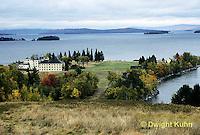 KN06-003a  Mt. Kineo on Moosehead Lake, Maine - Kineo Center Facilities