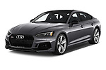 2019 Audi RS-5-Sportback - 5 Door Hatchback Angular Front stock photos of front three quarter view