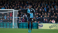 Aaron Pierre of Wycombe Wanderers during the Sky Bet League 2 match between Wycombe Wanderers and Portsmouth at Adams Park, High Wycombe, England on 28 November 2015. Photo by Andy Rowland.