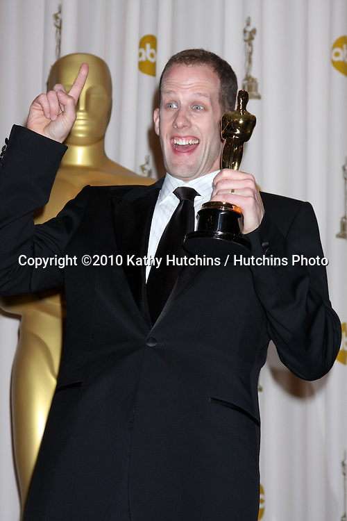 Director Pete Docter, winner of Best Animated Feature award for 'Up,' .in the Press Room of the 82nd Academy Awards.Kodak Theater.Los Angeles, CA.March 7, 2010.©2010 Kathy Hutchins / Hutchins Photo....