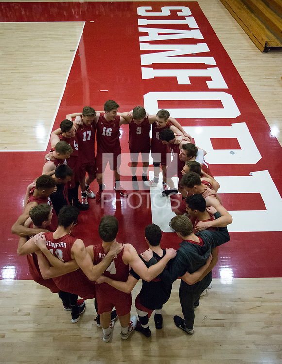 STANFORD, CA - December 30, 2017: Team at Burnham Pavilion. The Stanford Cardinal defeated the Calgary Dinos 3-1.
