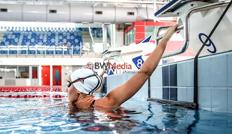 NZ Swimmer Bobbi Gichard. Adidas Swim racesuit launch at the Swimming New Zealand High Performance Centre, Owen G Glenn National Aquatic Centre, Auckland New Zealand. Photo: Simon Watts/www.bwmedia.co.nz