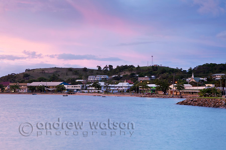 Township at Thursday Island with Green HIll in the background.  Thursday Island, Torres Strait Islands, Queensland, Australia