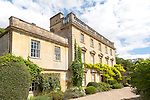 Classical facade of Iford Manor, Bradford on Avon, Wiltshire, England