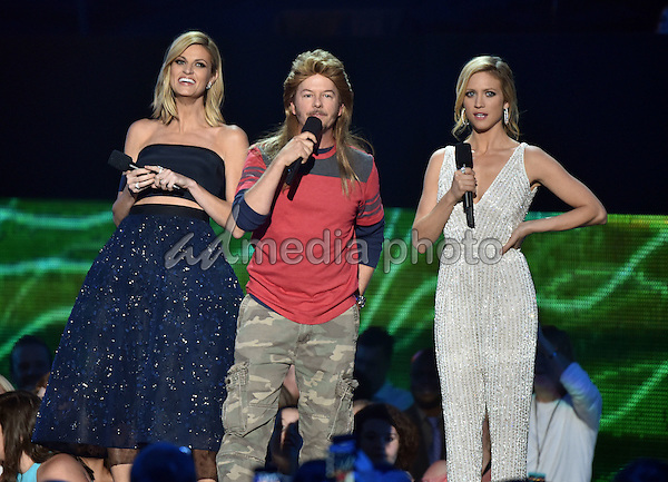 10 June 2015 - Nashville, Tennessee - Erin Andrews, David Spade. Brittany Snow. 2015 CMT Music Awards held at Bridgestone Arena. Photo Credit: Laura Farr/AdMedia