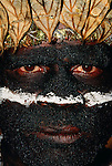 Mount Hagen tribesman at Singsing festival, Papua New Guinea