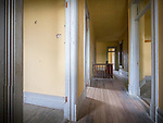 Doors and halls, Meade Hotel, Ghost town of Bannock, Montana, first territorial capital of the region