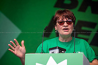 Christine Blower (General Secretary of National Union of Teachers NUT &amp; Unite Against Fascism UAF Vice chair).<br />