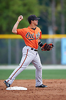 Baltimore Orioles Adrian Marin (2) during a minor league Spring Training intrasquad game on April 2, 2016 at Buck O'Neil Complex in Sarasota, Florida.  (Mike Janes/Four Seam Images)
