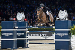 Gerco Schroder of The Netherlands riding Glock's Lausejunge competes in the Longines Grand Prix during the Longines Masters of Hong Kong at AsiaWorld-Expo on 11 February 2018, in Hong Kong, Hong Kong. Photo by Diego Gonzalez / Power Sport Images