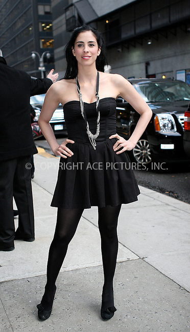 WWW.ACEPIXS.COM . . . . .   ....February 3 2010, New York City....Comedian Sarah Silverman made an appearance at 'The Late Show with David Letterman' on February 3 2010 in New York City....Please byline: NANCY RIVERA- ACEPIXS.COM.... *** ***..Ace Pictures, Inc:  ..Tel: 646 769 0430..e-mail: info@acepixs.com..web: http://www.acepixs.com