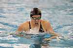 18 February 2016: Notre Dame's Meaghan O'Donnell competes in the Women's 200 Individual Medley preliminary Heat 3. The 2016 Atlantic Coast Conference Swimming and Diving Championships were held at the Greensboro Aquatic Center in Greensboro, North Carolina from February 17-27, 2016.