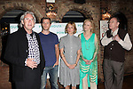 Director David Esbjornson, actors Patrick Heusinger, Chloe Sevigny, Laila Robins and Paxton Whitehead.attending the New York Stage and Film's 2012 Season Launch at Joe Allen's in New York City on June 12, 2012. © Walter McBride / WM Photography .