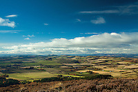 The Sidlaws from Auchterhouse Hill near Dundee, Tayside