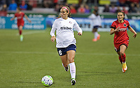 Portland, Oregon - Saturday May 21, 2016: Washington Spirits Shelina Zardorsky (6) during a regular season NWSL match at Providence Park. The Thorns won 4-1.