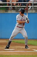 21 July 2005: Ben Zobrist (6) of the Salem Avalanche, Class A Carolina League affiliate of the Houston Astros, taken at Pfitzner Stadium, Woodbridge, Va., in a game against the Potomac Nationals. (Tom Priddy/Four Seam Images)