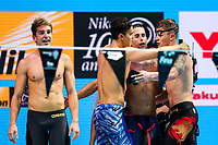 Picture by Rogan Thomson/SWpix.com - 30/07/2017 - Swimming - Fina World Championships 2017 -  Duna Arena, Budapest, Hungary - James Guy, Chris Walker-Hebborn and Adam Peaty celebrate as Great Britain win the Silver Medal in the Final of the Men's 4x100m Medlay Relay.