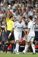 29.08.2012 Spain Supercopa, Real Madrid won (2-1) at Barcelona and was presented on goalaverage to win its ninth Supercopa of Spain) at Santiago Bernabeu stadium. The picture show Kepler Laveran Pepe (Portuguese/Brazilian defender of Real Madrid)