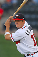 Infield prospect Brent Lillibridge of the Mississippi Braves, the Atlanta Braves' Class AA affiliate of the Southern League, in a game against the Birmingham Barons April 21, 2007, at Trustmark Park in Pearl, Miss. Photo by:  Tom Priddy/Four Seam Images