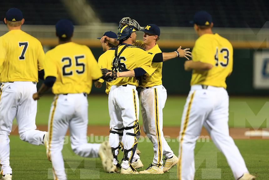 The University of Michigan baseball team defeated Minnesota 3-2 during their first game of the 2014 Big Ten Tournament. Omaha, NE, May 22, 2014