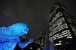 July 18, 2014, Tokyo, Japan - A 6.6 meter tall replica model of Godzilla is shown at Tokyo Midtown in downtown Tokyo on Friday, July 18, 2014. The Godzilla display runs from July 18 to August 31. (Photo by AFLO)