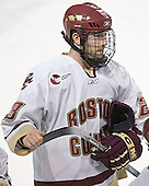 Brian O'Hanley - The Boston College Eagles and Ferris State Bulldogs tied at 3 in the opening game of the Denver Cup on Friday, December 30, 2005, at Magness Arena in Denver, Colorado.  Boston College won the shootout to determine which team would advance to the Final.