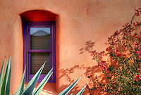Historic &quot;El Barrio&quot; neighborhood in Tucson, Arizona with row after row of charming and colorful adobe houses built in the 1800's - since restored.<br /> &copy; 2012 Cheyenne L Rouse/All rights reserved