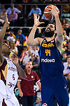 Spain's basketball player Nikola Mirotic during the  match of the preparation for the Rio Olympic Game at Madrid Arena. July 23, 2016. (ALTERPHOTOS/BorjaB.Hojas)