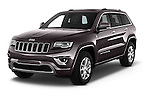 2016 JEEP Grand-Cherokee Overland 5 Door Suv Angular Front stock photos of front three quarter view