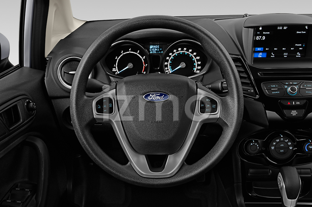 Car pictures of steering wheel view of a 2019 Ford Fiesta SE 4 Door Sedan Steering Wheel