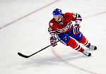 22 March 2010: Montreal Canadiens' center Maxim Lapierre in action against the Ottawa Senators at the Bell Centre in Montreal, Quebec, Canada. The Senators shut out the Canadiens 2-0 in their last meeting of the regular season. Mandatory Credit: Ed Wolfstein Photo