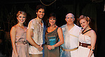 "Janine DiVita ""Penelope"", Josh A. Davis ""Odysseus"", Colleen Zenk ""Anticleia"", Eddie Korbich ""Poseidon"" - Emma Zaks ""Athena"" -  Opening Night of Odyssey - The Epic Musical on October 23, 2011 at the American Theatre of Actors, New York City, New York. (Photo by Sue Coflin/Max Photos)"